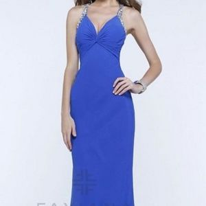 Faviana Dresses - Faviana Royal Beaded Chiffon Gown (Style #7309)